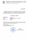 """Osvedceni o registrace  """"SIPNET eu s.r.o"""" № 2945"""